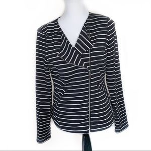 Mossimo Medium Striped Blazer with Side Zipper